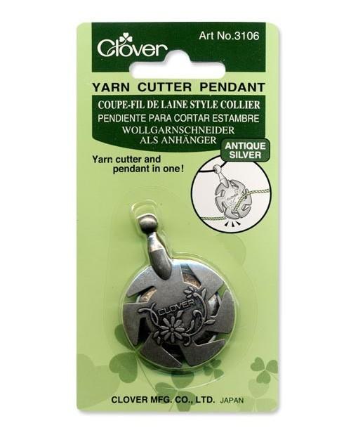 Yarn Cutter Pendant (Antique Silver)