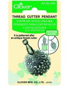 Thread Cutter Pendant (Antique Silver)
