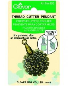 Thread Cutter Pendant (Antique Gold)