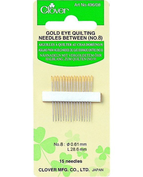 Gold Eye Quilting Needles Between (No. 8)