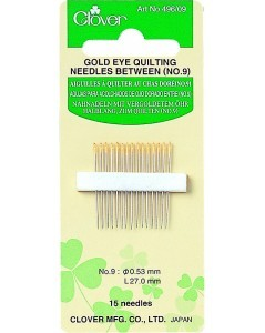 Gold Eye Quilting Needles Between (No. 9)