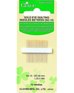 Gold Eye Quilting Needles Between (No. 10)