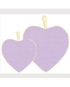 Lilac linen fabric heart
