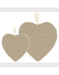 Naturel linen fabric heart