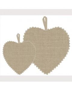 Naturel linen fabric heart
