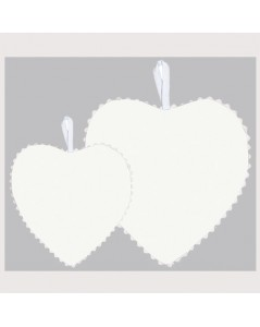 White linen fabric heart