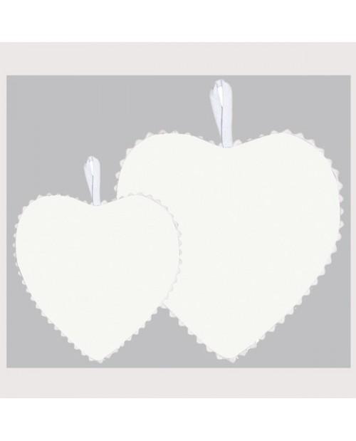White linen fabric heart