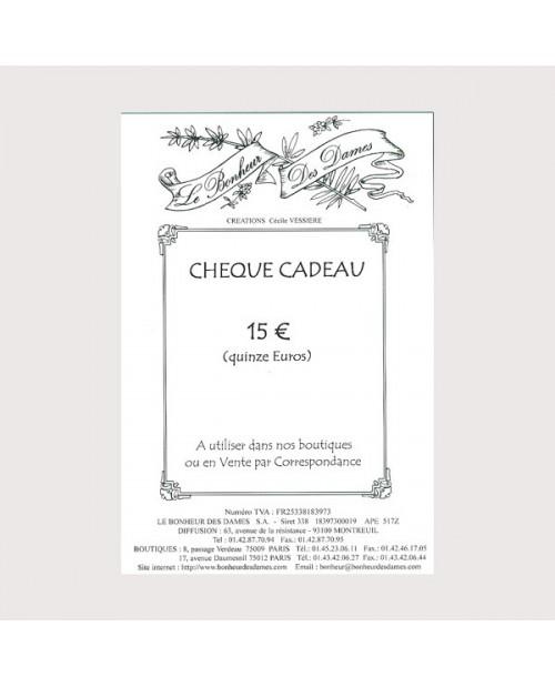 Gift voucher 15 euros
