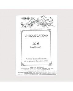 Gift voucher 20 euros