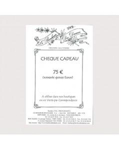 Gift voucher 75 euros