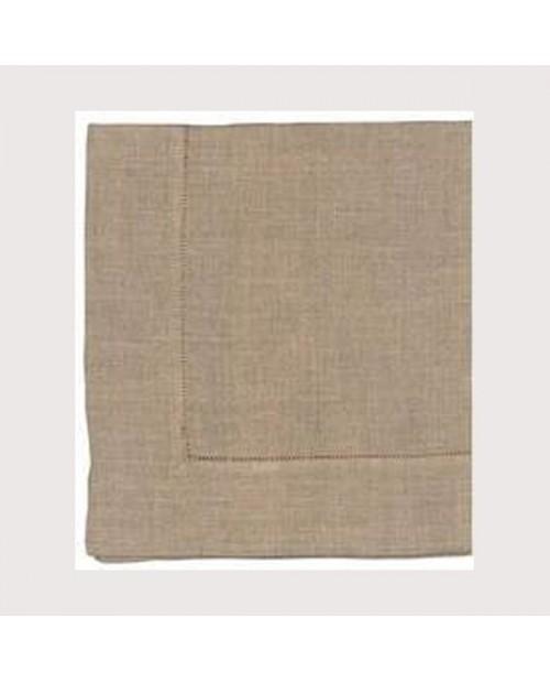 Hemed white linen runner 45x120cm