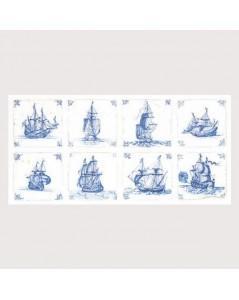 Antique Dutch tiles - Cross stitch