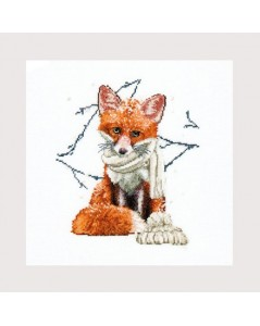 Red fox to cross stitch Thea Gouvernur embroidery