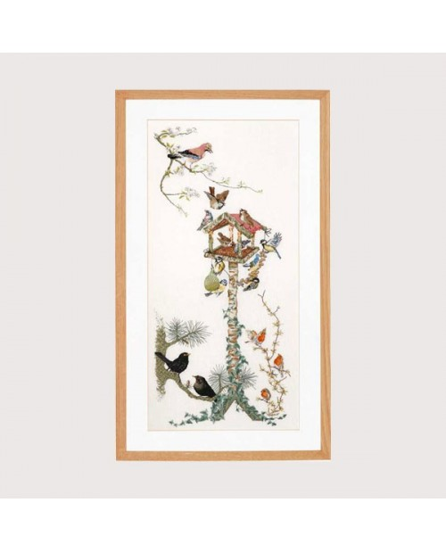 Bird table. Aviary. Embroidery kit by Thea Gouverneur. G1065