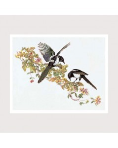 Two birds on a branch. Design by Thea Gouverneur.