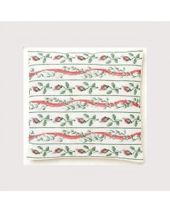 Ribbons & roses cushion