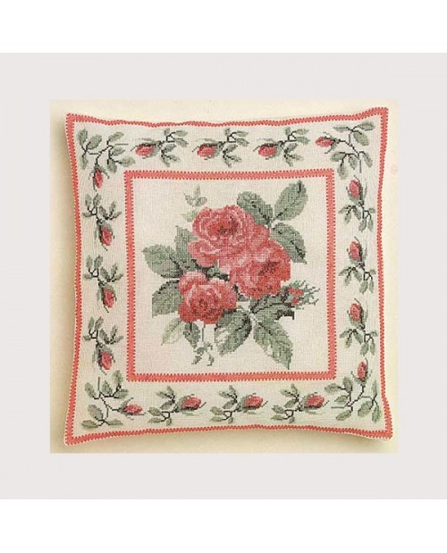 Rose bouquet cushion