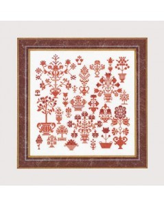 Antique flower sampler
