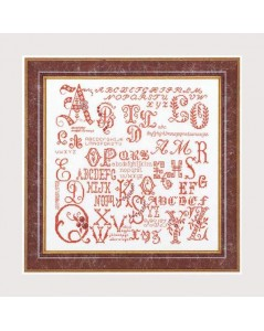 Antique character sampler