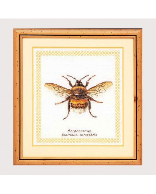 Bumblebee. Counted cross stitch embroidery kit.Thea Gouverneur G3018
