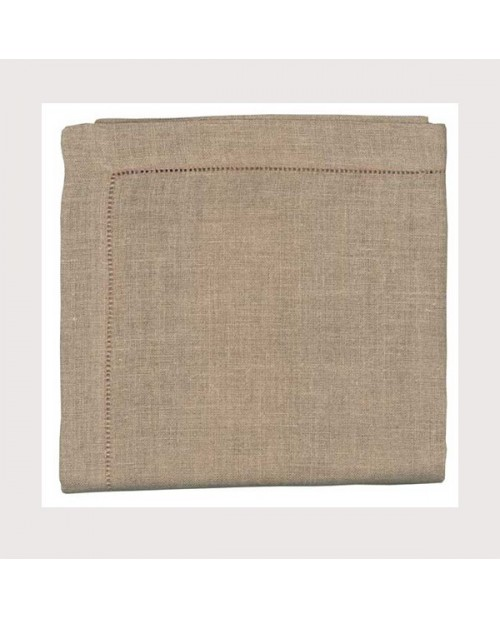 Hemed natural linen tablecloth 90x90cm