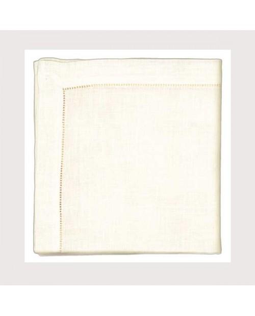 Hemed ivory linen tablecloth 90x90cm