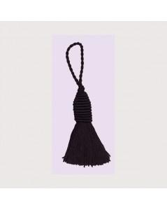Pompon noir avec un œillet