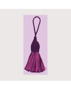 Pompon violet et rose avec un œillet. Le Bonheur des Dames PB198