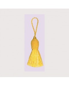 Pompon jaune avec un œillet. Le Bonheur des Dames PB79