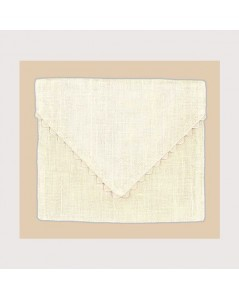 Ivory linen pouch