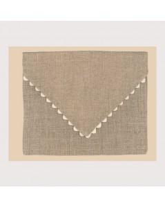 Natural linen pouch