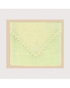 Soft green linen pouch