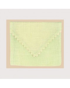 Soft green linen pouch