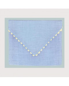 Sky blue linen pouch