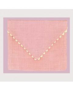 Pink linen pouch