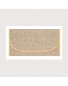 Napkin holder ready to embroider, even-weave linen 12 threads/cm. Beige edge. Le Bonheur des Dames PSL1