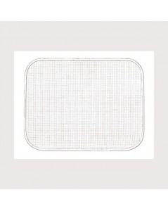 White placemat with white border