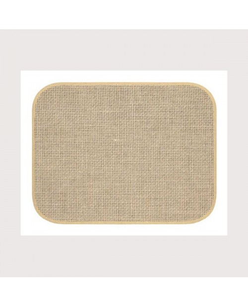 Placemat with beige border