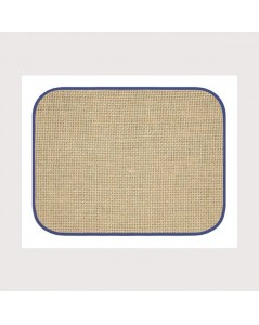 Placemat with blue border