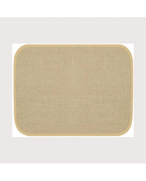 Placemat with beige border. Made of even-weave linen of natural colour. Ready to embroider. SETL1