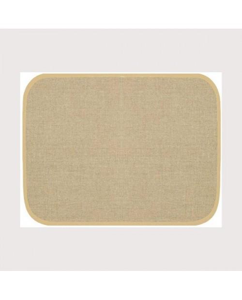 Set de table en lin 12 fils/cm avec bord beige. Référence SETL1