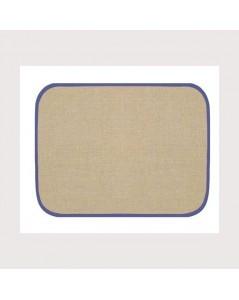 Set de table en lin 12 fils/cm avec bord bleu marine. Référence SETL3