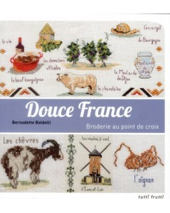 Tender France cross-stitch embroidery