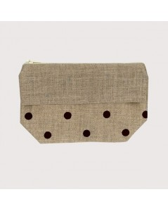 Pocket with black polka-dot print