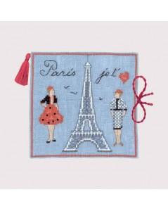 Embroidery kit needle case Eiffel Tower