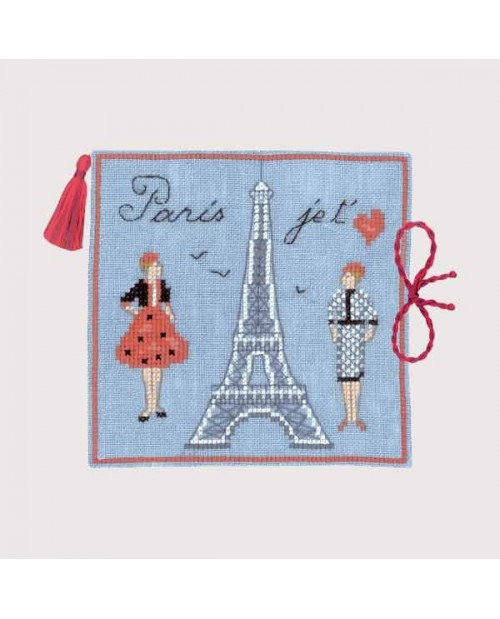 Embroidery kit needle case Eiffel Tower