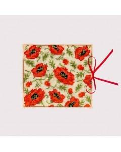 Needle case Poppies