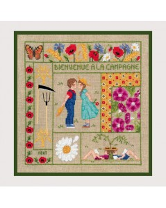 Welcome August embroidery kit. n° 2657; Le Bonheur des Dames