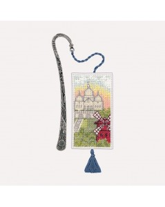 Embroidery kit. View on Montmatre and Moulin Rouge