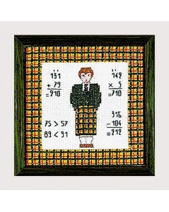 Young man. Scottish style. Le Bonheur des Dames 1718. Embroidery kit.